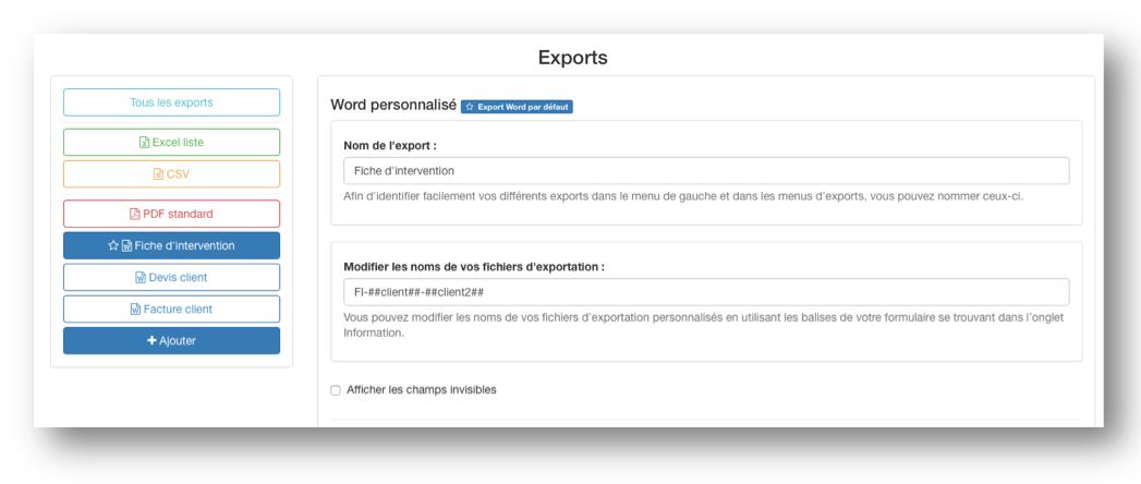Utilisez plusieurs documents Word et Excel personnalisés