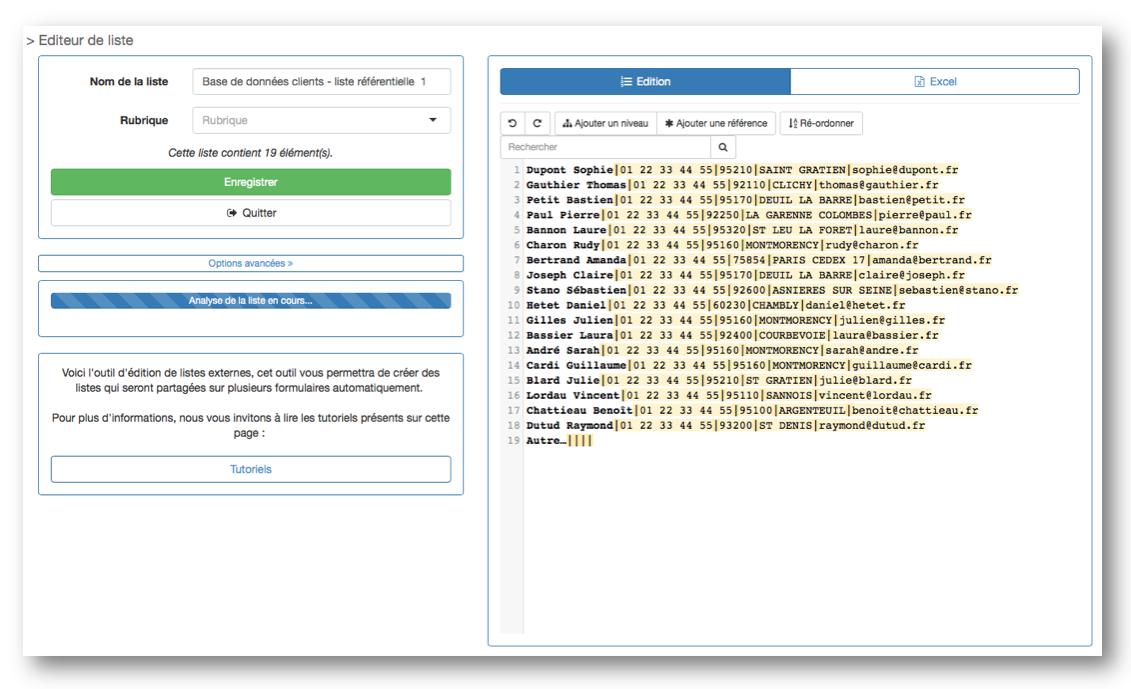 Nouvelle interface pour la gestion de vos listes externes !