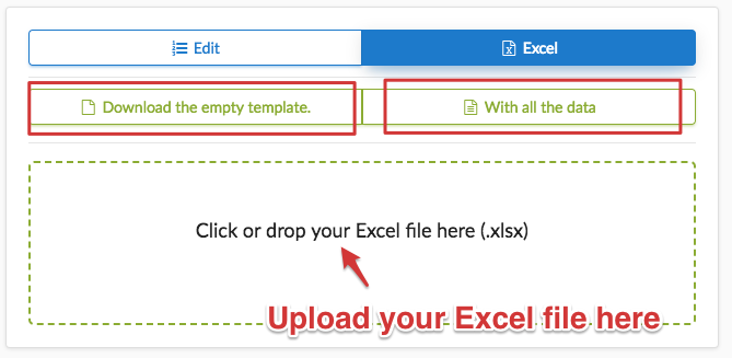 How to import an Excel file