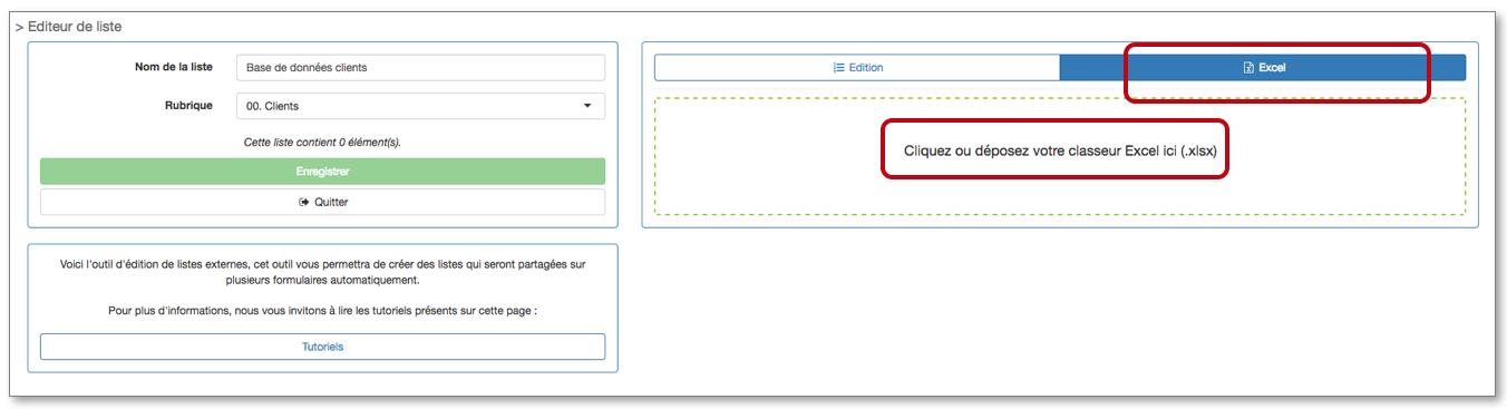 Sélectionnez votre fichier Excel en cliquant sur Parcourir.