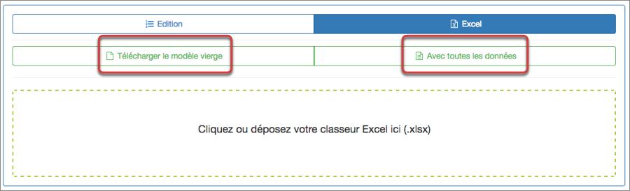 L'import d'un fichier Excel pour mettre-à-jour votre liste
