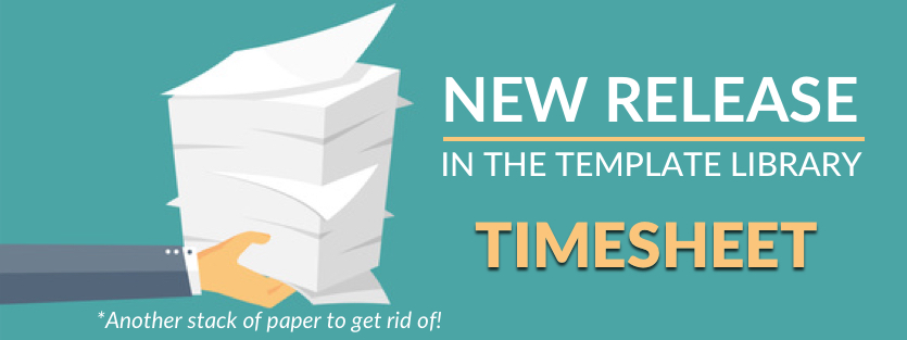 download the new timesheet form available in the library