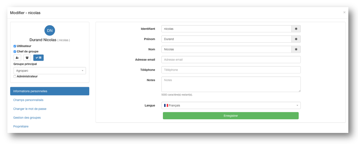 Nouvelle interface Kizeo Forms de modification de vos utilisateurs