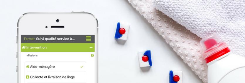Saisissez vos suivis qualité de service à la personne sur votre mobile ou votre tablette.