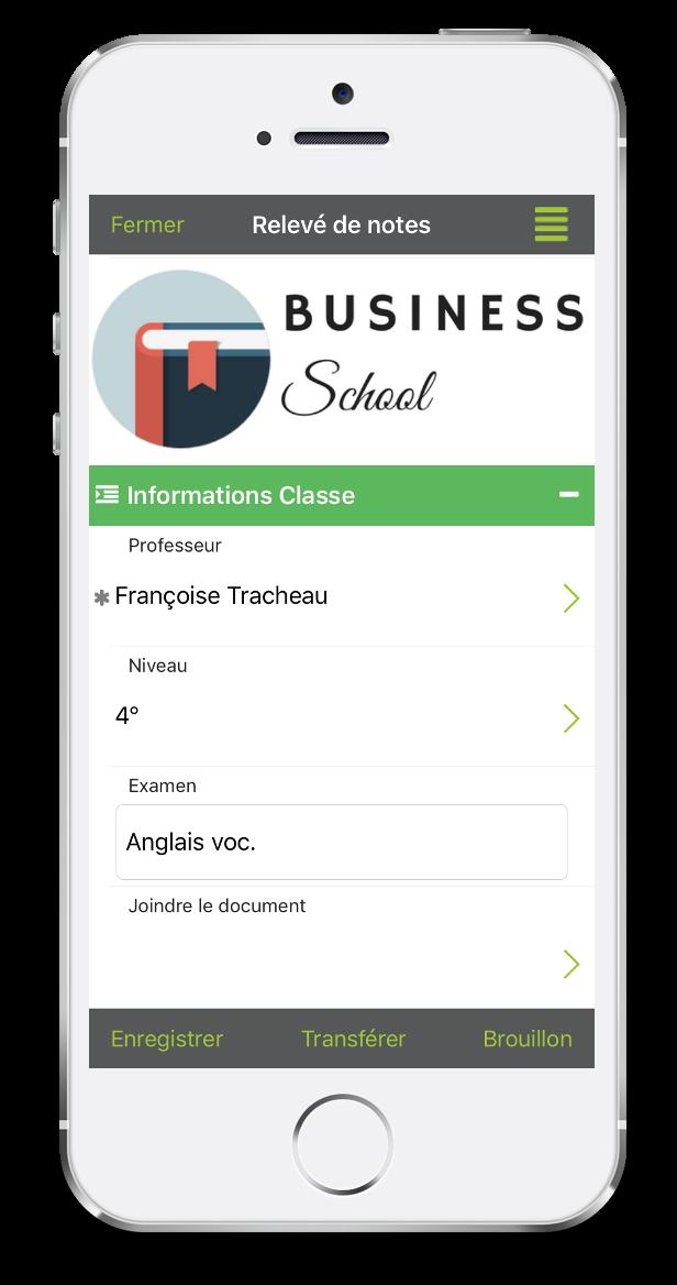 Formulaire de relevé de notes sur mobile ou tablette avec Kizeo Forms