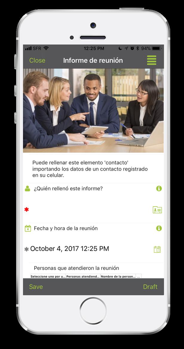 Formulario informe de reunion
