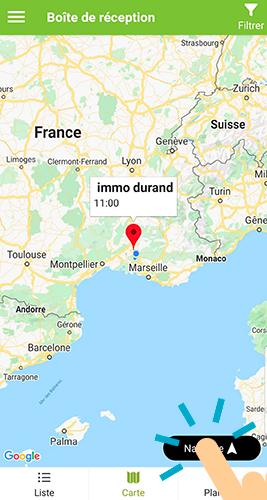 Ouvrir une donnée pushée avec google map
