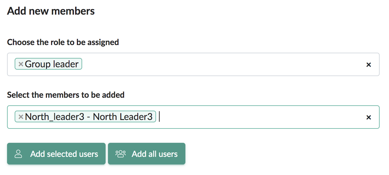 Manually assign a group leader to a group.