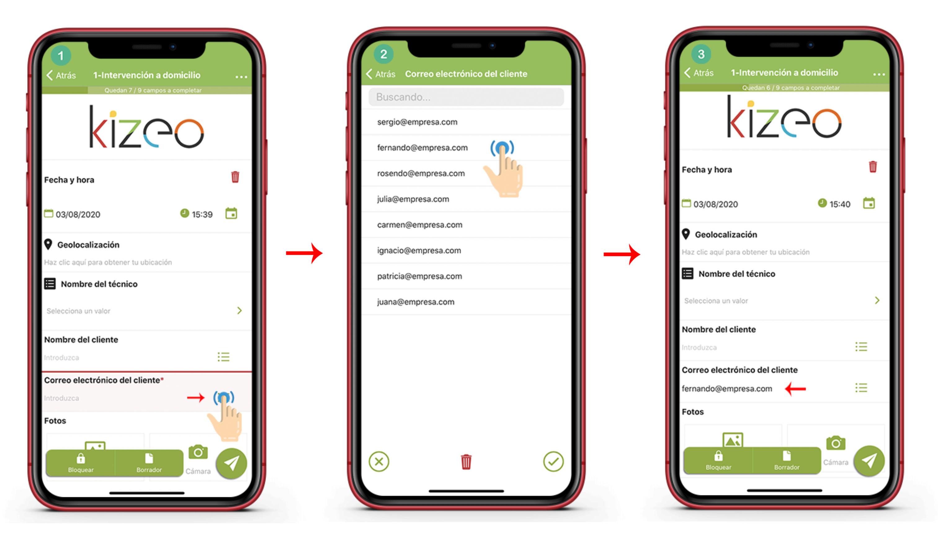 Lista de sugerencia en tu dispositivo móvil