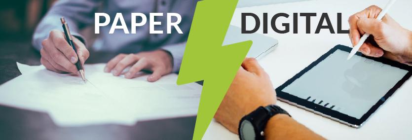 Paper vs Digital Forms