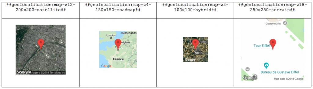 Afficher une carte dans vos rapports avec l'élément Géolocalisation