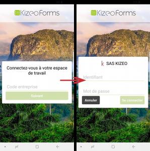 Connectez-vous à votre compte Kizeo Forms.