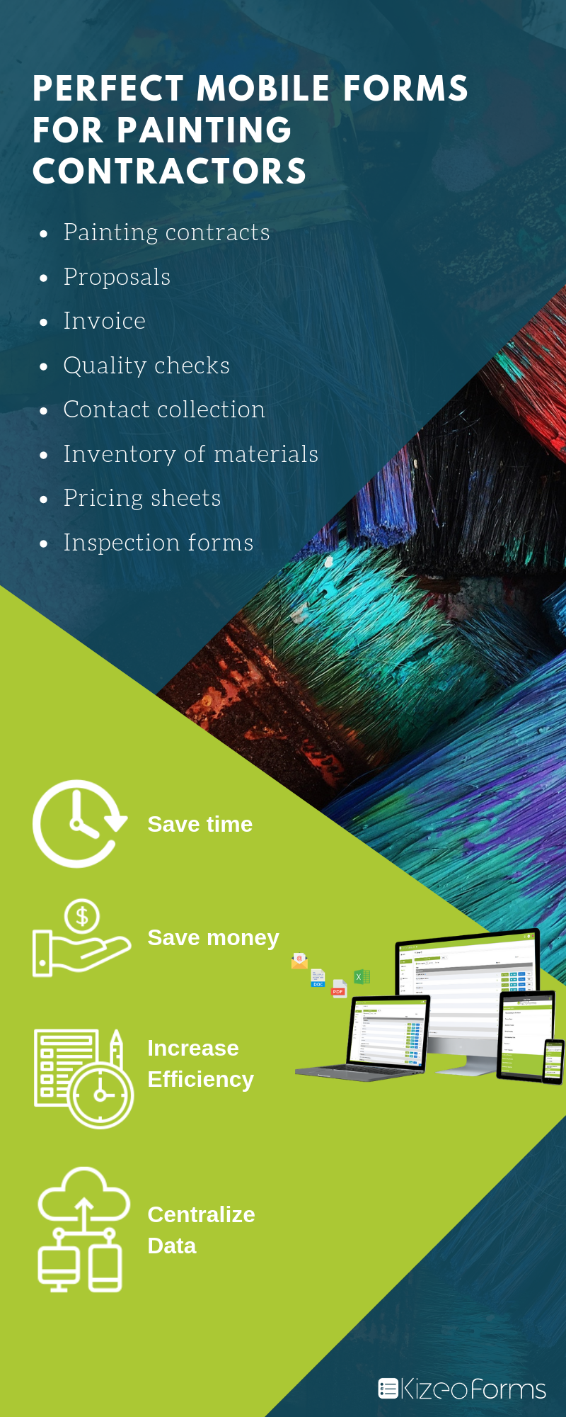 Mobile forms for painting contractors