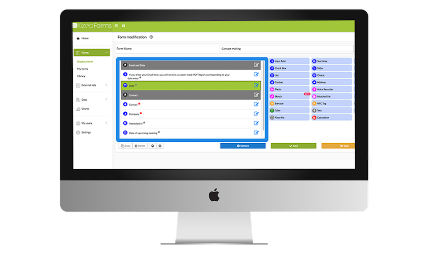 Back office Kizeo Forms