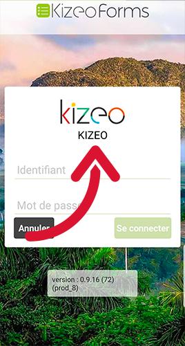 Le logo apparaît lors de la connexion à l'application.