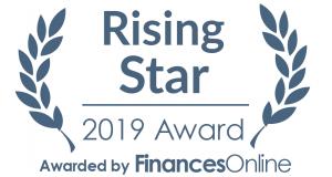 Badge Rising Star 2019 Award Kizeo Forms