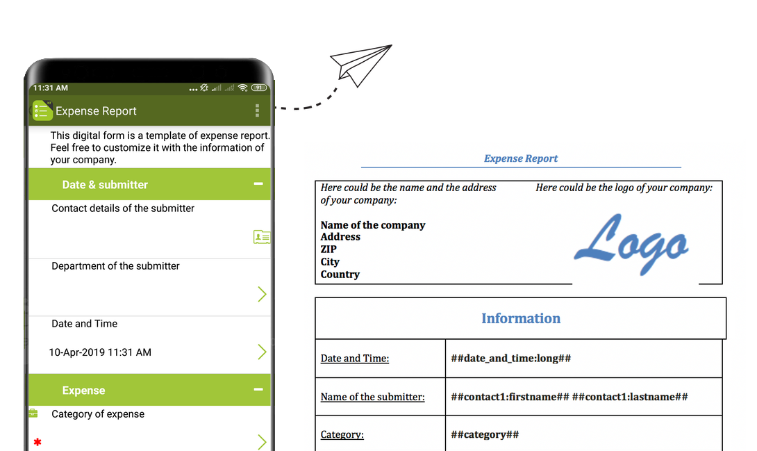 Expense Reports with Kizeo Forms