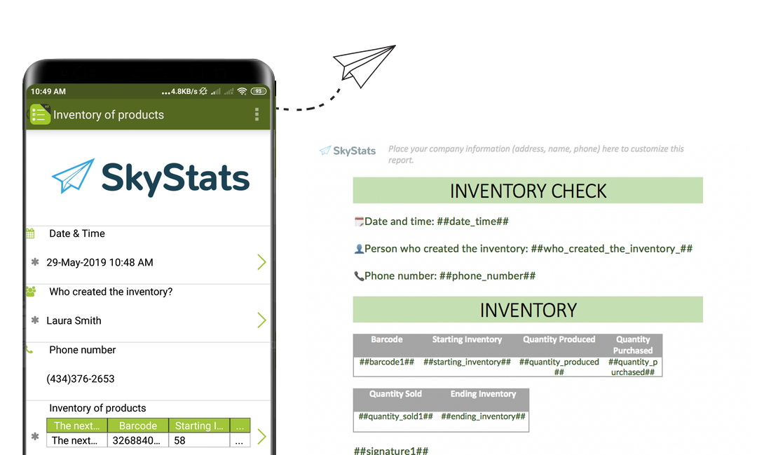 Inventory reports with Kizeo Forms