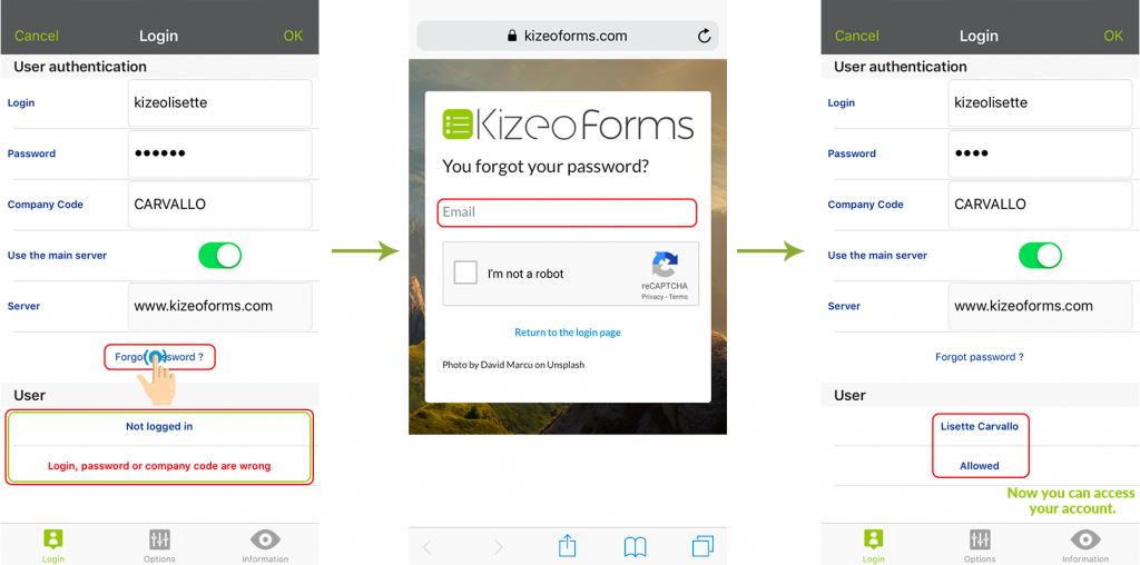 How to resolve Connection problems on the Kizeo Forms App?