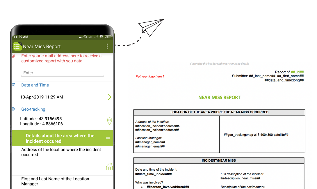 Near Miss Reports with Kizeo Forms
