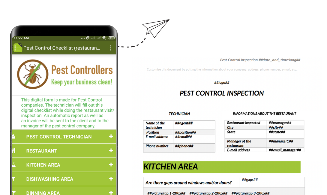 Pest control inspection reports