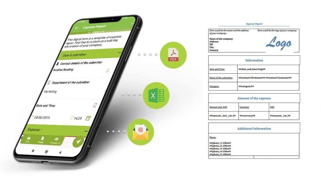 Expense Report with Kizeo Forms