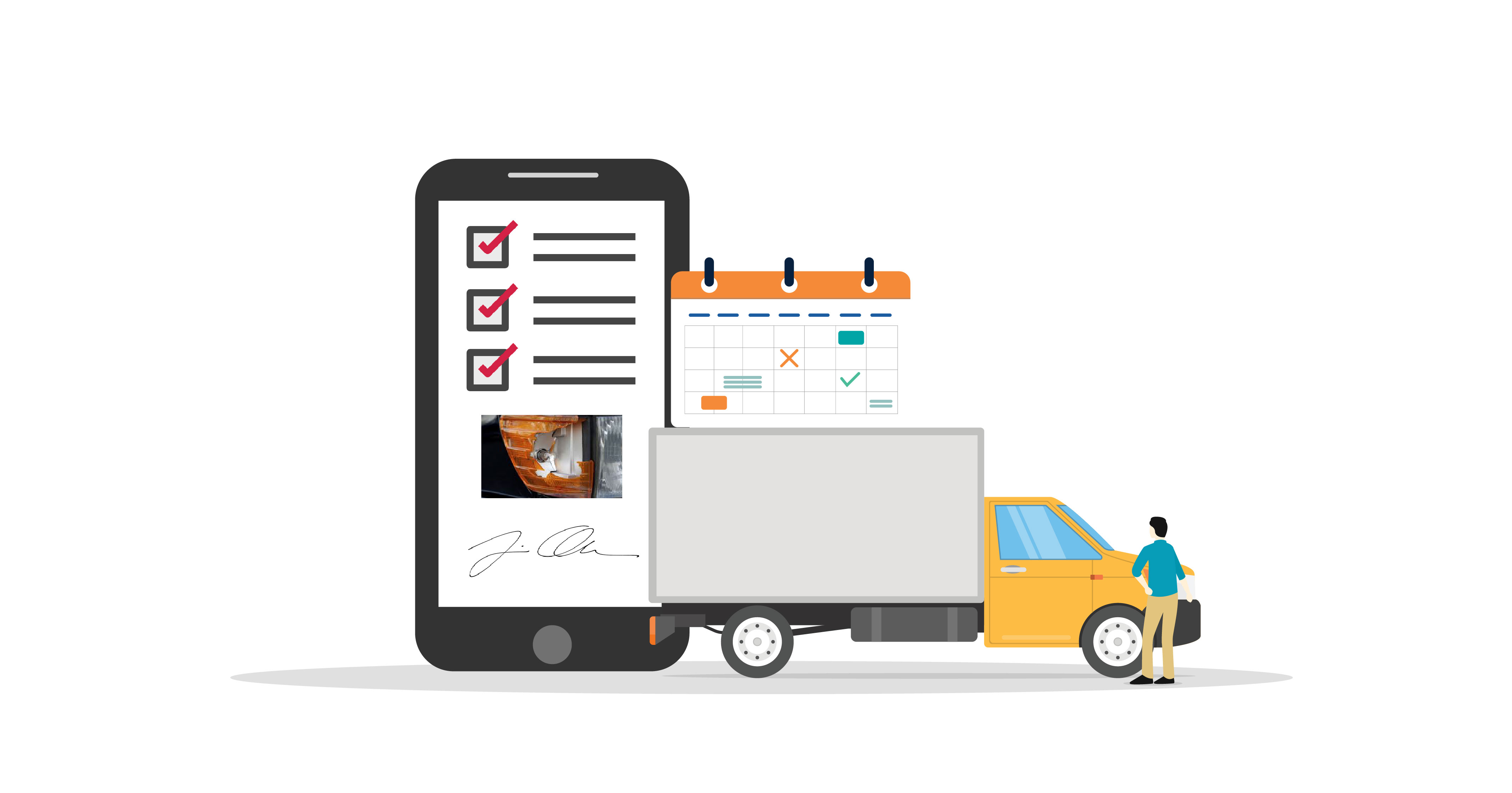 vehicle inspection reports with Kizeo Forms