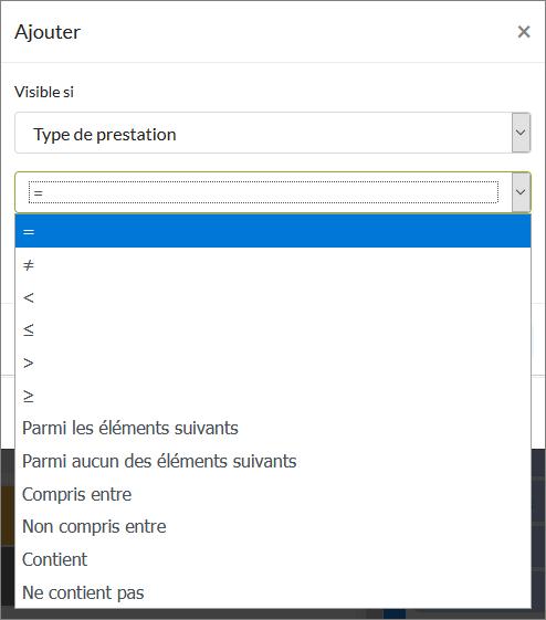Paramétrer les options de visibilité