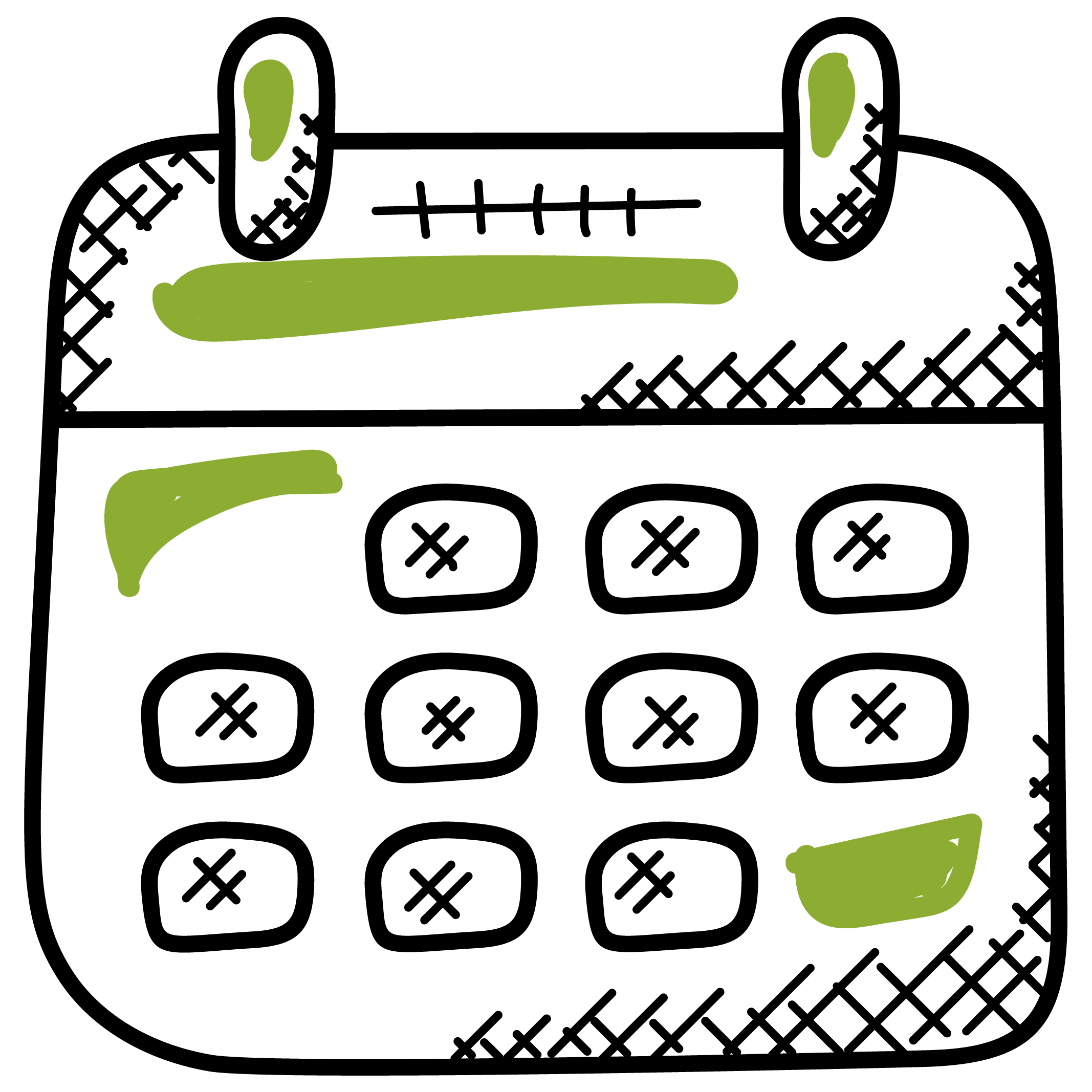 delivery notes calendar
