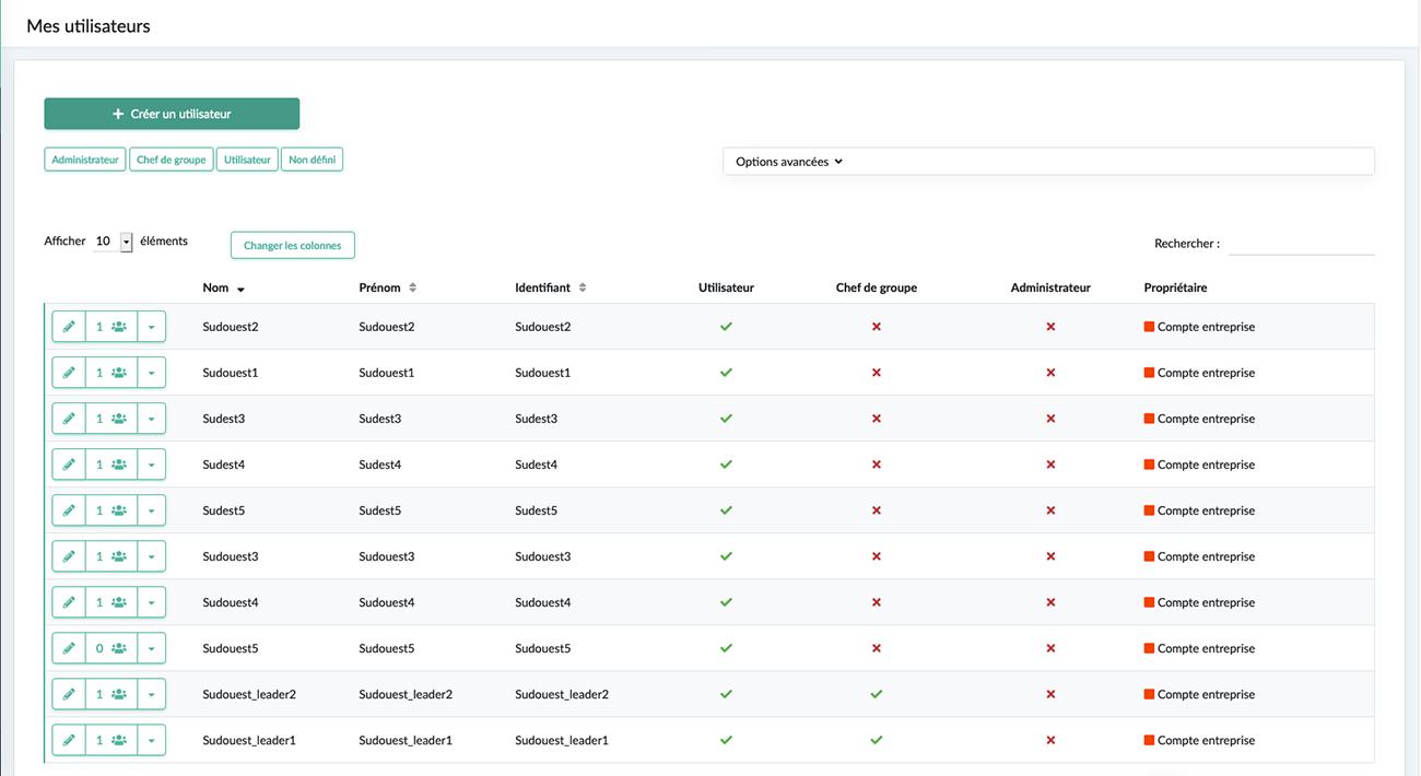 Créez vos utilisateurs Kizeo Forms.
