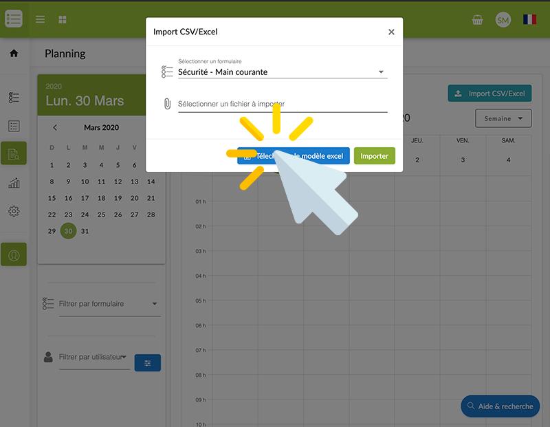 Téléchargez le modèle Excel