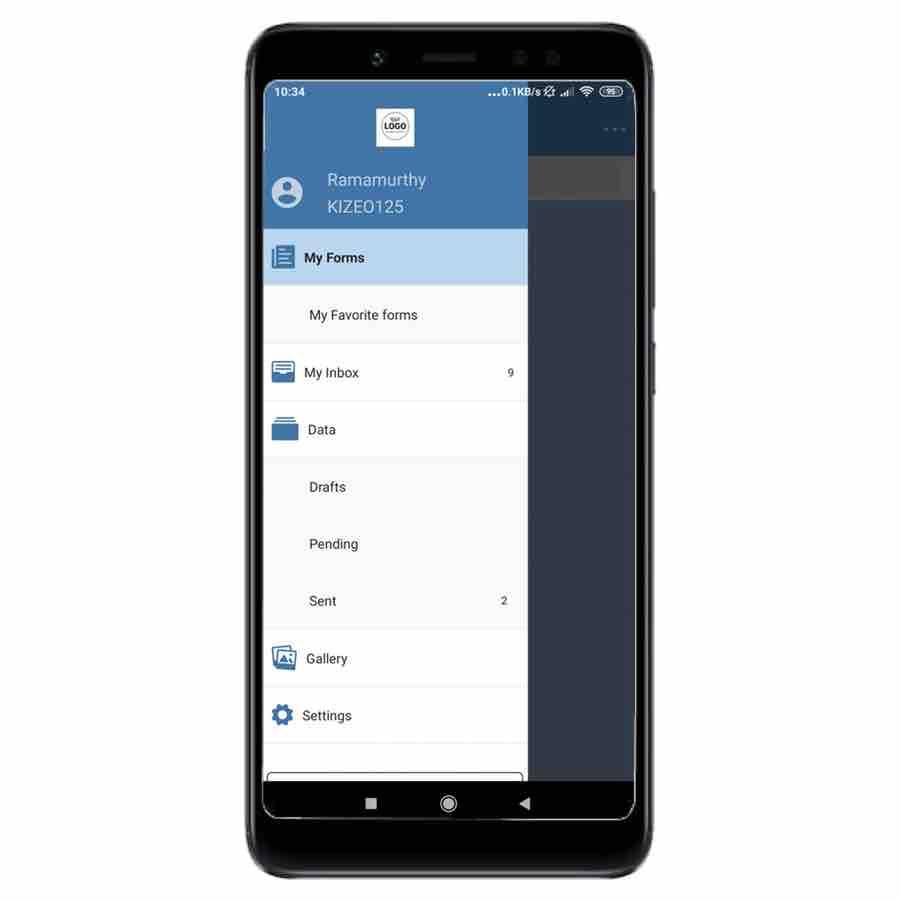 New app Kizeo Forms Ergonomic navigation