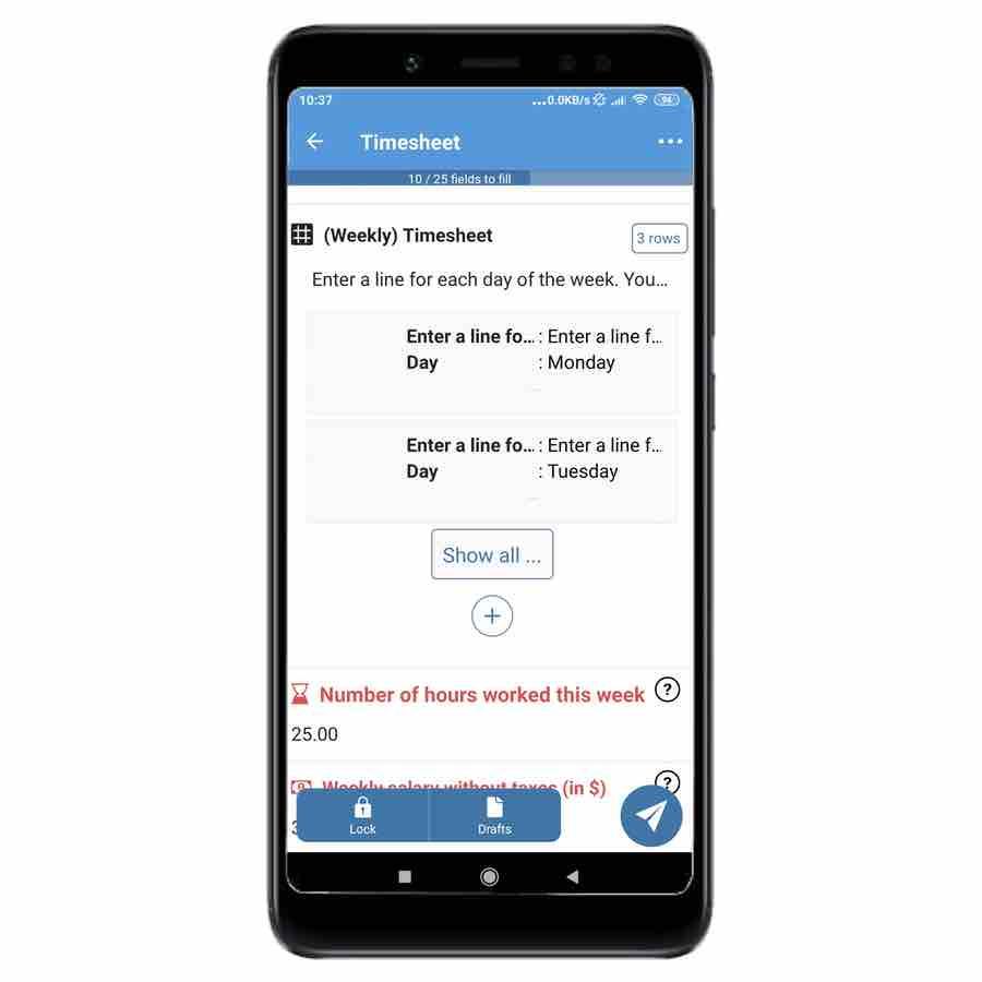New app Kizeo Forms data visulization