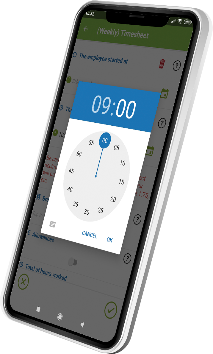 timesheet app with kizeo forms