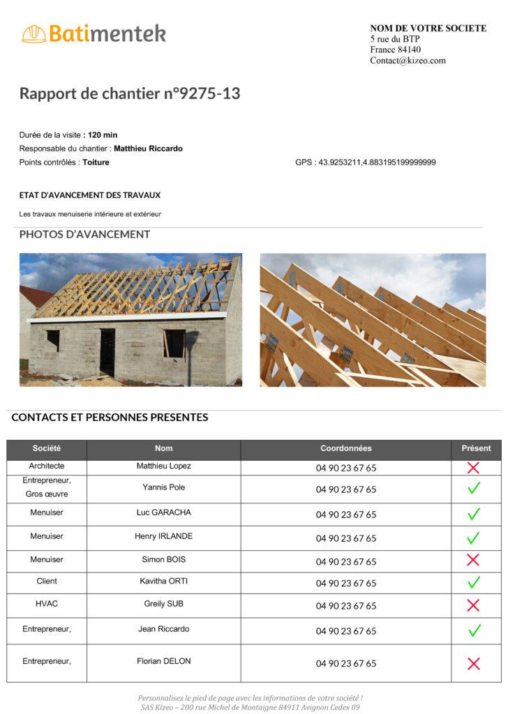 Compte rendu de chantier avec Kizeo Forms