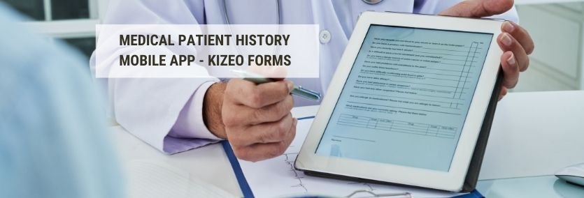 Medical patient history mobile app