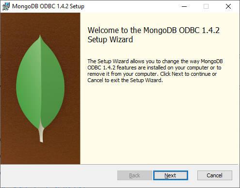 Lancement ODBC MongoDB