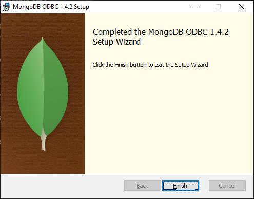 Finalisation de l'installation ODBC MongoDB