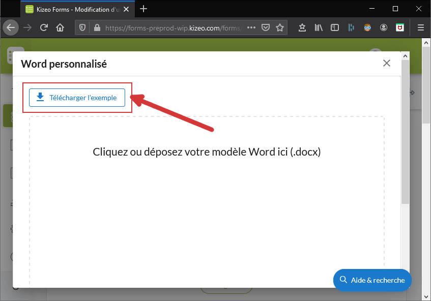 Télécharger un exemple d'export Word
