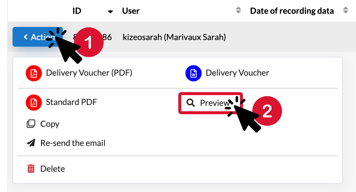 See the-preview of your data