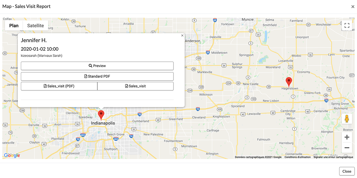 View your location on a map.