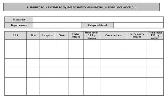 ejemplo tabla excel entrega epis