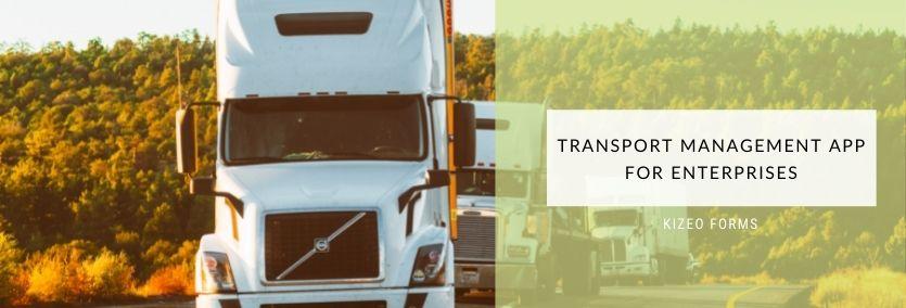 Transport management app